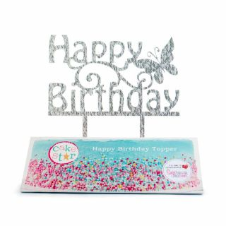 Cake Star Cake Topper HAPPY BIRTHDAY GLITTER