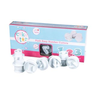 Cake Star Push Easy Cutters LARGE NUMBERS Set of 10