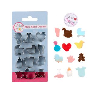 Cake Star Mini Metal Cutters BABY Set of 12