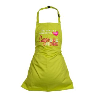Sugar and Crumbs Children's Apron LIME GREEN Age 3 to 6