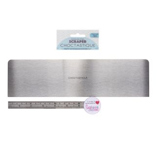Choctastique Stainless Steel Cake Scraper EXTRA LARGE 30x8cm