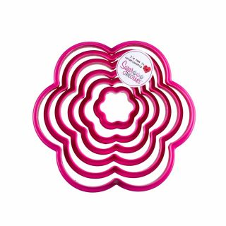 Cookie Cutters PINK Set of 6