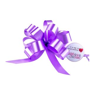 Cupcake Bouquet Ribbon Pull Bow LILAC Pack of 1
