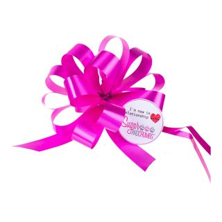 Cupcake Bouquet Ribbon Pull Bow CERISE Pack of 1