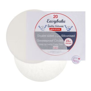 Easybake GREASEPROOF CIRCLES 9 Inch 23cm Pack of 20