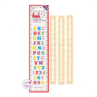 FMM Cutters CARNIVAL ALPHABET UPPERCASE AND NUMBERS