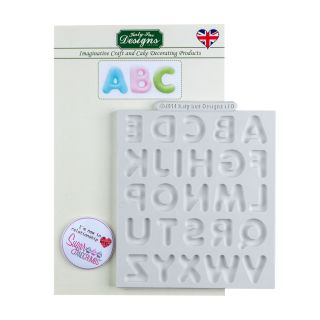 Katy Sue Silicone Mould LARGE DOMED ALPHABET
