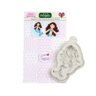 Katy Sue Sugar Buttons Silicone Mould LITTLE MERMAID