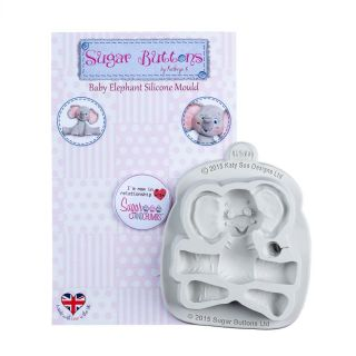 Katy Sue Sugar Buttons Silicone Mould BABY ELEPHANT
