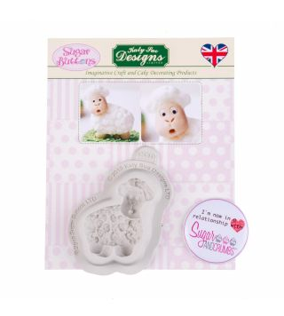Katy Sue Sugar Buttons Silicone Mould LITTLE LAMB
