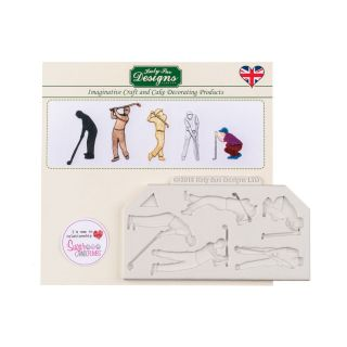 Katy Sue Silicone Moulds GOLF SILHOUETTES