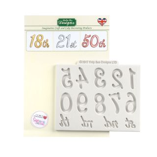 Katy Sue Silicone Mould LARGE NUMBERS