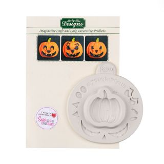 Katy Sue Silicone Mould PUMPKIN FACE