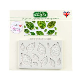 Katy Sue Silicone Mould ROSE LEAVES