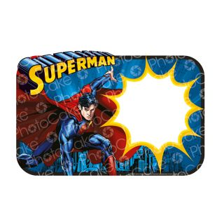 PhotoCake Personalised A4 Image Superman Saves the day