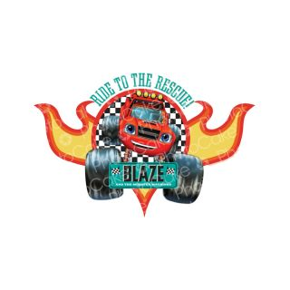 PhotoCake A4 Image Blaze and the Monster Machines - Ride to the Rescue