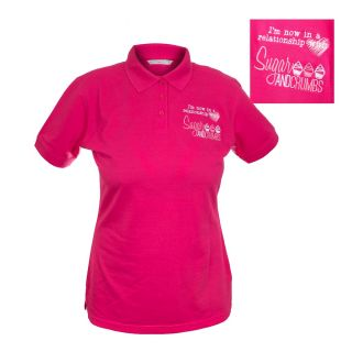 Sugar and Crumbs Polo Shirt RASPBERRY LARGE 36 inch Size 14