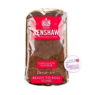 Renshaw Sugarpaste Ready to Roll CHOCOLATE 500g