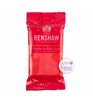 Renshaw Sugarpaste Ready to Roll POPPY RED 250g