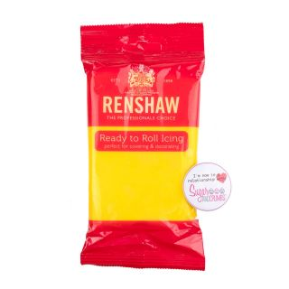 Renshaw Sugarpaste Ready to Roll YELLOW 250g