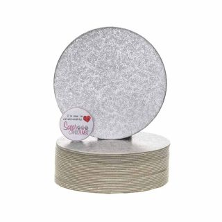 Cake Card Cut Edge ROUND 5 Inch Pack of 25