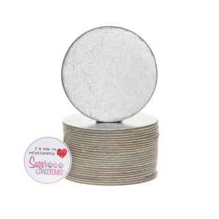Cake Card Cut Edge ROUND 3 Inch Pack of 25