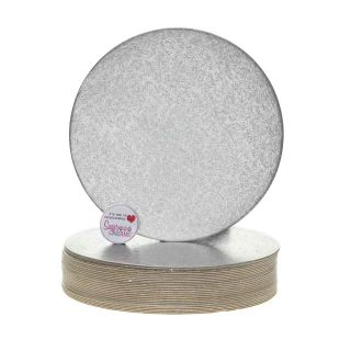Cake Card Cut Edge ROUND 8 Inch Pack of 25