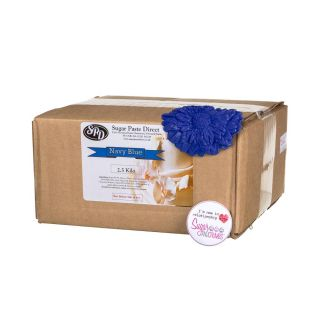SugarPasteDirect  Sugarpaste Ready to Roll NAVY BLUE 2.5Kg