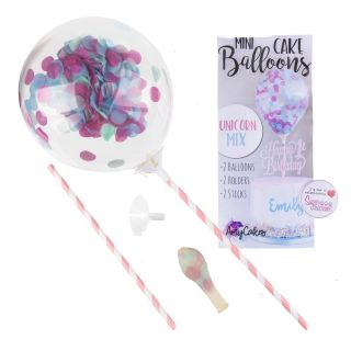 Sweet Stamp Mini Confetti Balloons 2pk UNICORN MIX