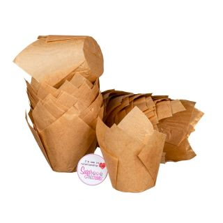 Tulip Muffin Wraps CARAMEL Pack of 50