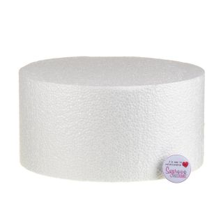 10x05 Inch ROUND Straight Edged Cake Dummy