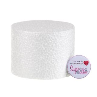 04x03 Inch ROUND Straight Edged Cake Dummy