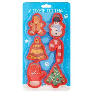6 Cookie Cutters Festive