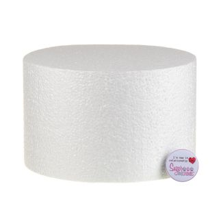 08x05 Inch ROUND Straight Edged Cake Dummy