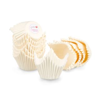 Crown Cupcake Cases WHITE Pack of 200