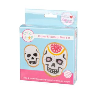 Cake Star Texture Mat and Cutter Set SKULLS