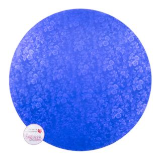 Cake Drum Round Blue Masonite 10 Inch.1