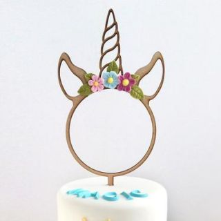 Katy Sue Cake Topper Wooden Unicorn Hoop