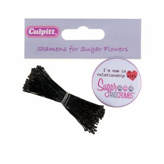 Culpitt SMALL BLACK DOUBLE ENDED DULL STAMEN Bunch of 72 (approx 144 heads)
