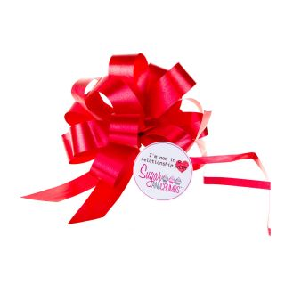 Cupcake Bouquet Ribbon Pull Bow RED Pack of 1