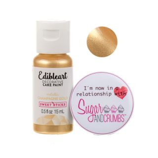 Sweet Sticks Edible Art METALLIC CHAMPAGNE GOLD 15ml