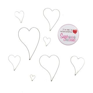 Fine Cut Cutters Curved Heart Set of 8