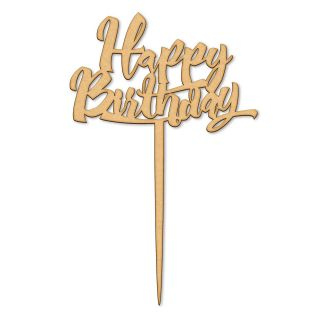 Katy Sue Cake Topper Wooden Happy Birthday