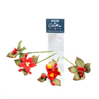 House of Cake Flower Spray MINI POINSETTIA
