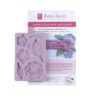Karen Davies Silicone Mould Crochet Flower and Leaf