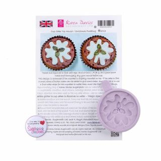 Karen Davies Silicone Mould Cupcake Christmas Pudding