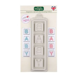 Katy Sue Silicone Mould BABY BLOCKS