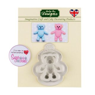 Katy Sue Silicone Mould BABY TEDDY BEAR