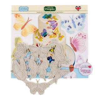 Katy Sue Creative Cake Silicone Embosser BUTTERFLIES