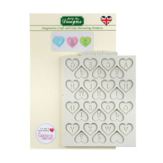 Katy Sue Silicone Mould HEART ALPHABET